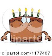 Cartoon Of A Happy Birthday Cake Mascot Royalty Free Vector Clipart by Cory Thoman