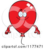 Cartoon Of A Happy Red Party Balloon Mascot Royalty Free Vector Clipart by Cory Thoman