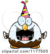 Cartoon Of A Happy Birthday Bald Eagle Wearing A Party Hat Royalty Free Vector Clipart