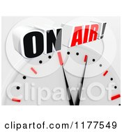 Clipart Of A 3d Wall Clock With On Air Text Royalty Free CGI Illustration