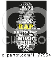 Clipart Of A Rap Music Word Collage On Black 2 Royalty Free CGI Illustration