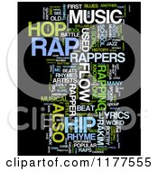 Clipart Of A Rap Music Word Collage On Black Royalty Free CGI Illustration