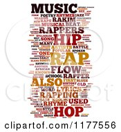 Clipart Of A Rap Music Word Collage On White 2 Royalty Free CGI Illustration