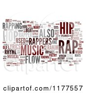 Clipart Of A Rap Music Word Collage On White 3 Royalty Free CGI Illustration
