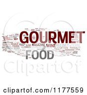 Clipart Of A Gourmet Food Word Collage On White Royalty Free CGI Illustration