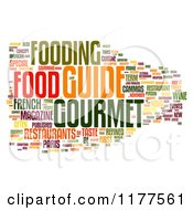 Clipart Of A Colorful Gourmet Food Word Collage On White Royalty Free CGI Illustration