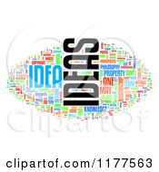 Clipart Of A Colorful Ideas Word Collage On White Royalty Free CGI Illustration