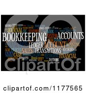 Clipart Of A Colorful Bookkeeping Word Collage On Black Royalty Free CGI Illustration