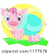 Cartoon Of A Cute Piglet Royalty Free Vector Clipart