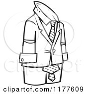 Outlined Empty Business Man Suit