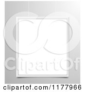 Clipart Of A 3d Suspended Blank Frame Over Gray Royalty Free Vector Illustration by vectorace