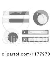 Clipart Of Gray Labels And Tags On White Royalty Free Vector Illustration