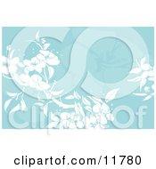 Blue Floral Background Clipart Illustration