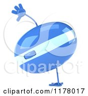 Clipart Of A 3d Blue Computer Mouse Mascot Cartwheeling Royalty Free CGI Illustration