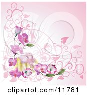 Woman Relaxing On Orchid Flowers by AtStockIllustration