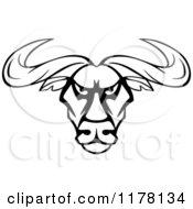 Intimidating Black And White Bull Head