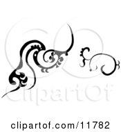 Black And White Designs Clipart Illustration