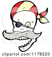 Cartoon Of Pirate Skull Royalty Free Vector Illustration