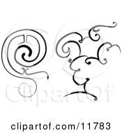 Black And White Design Elements Clipart Illustration