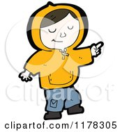 Cartoon Of A Boy Wearing A Hoodie Royalty Free Vector Illustration