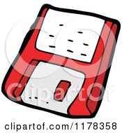 Cartoon Of A Computer Floppy Disk Royalty Free Vector Illustration by lineartestpilot
