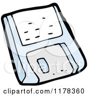 Cartoon Of A Floppy Disc Royalty Free Vector Illustration by lineartestpilot