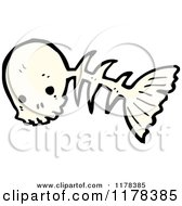 Cartoon Of A Fish Skeleton Royalty Free Vector Illustration by lineartestpilot