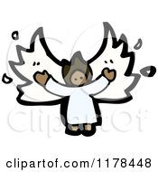 Cartoon Of An African American Angel Royalty Free Vector Illustration