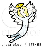 Cartoon Of An Angel Royalty Free Vector Illustration by lineartestpilot