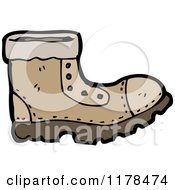Cartoon Of A Leather Boot Royalty Free Vector Illustration by lineartestpilot
