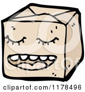Cartoon Of A Brown Wrapped Package Royalty Free Vector Illustration by lineartestpilot