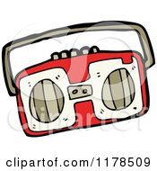 Cartoon Of A Boom Box Royalty Free Vector Illustration by lineartestpilot