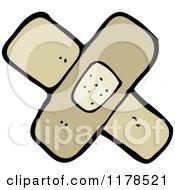 Cartoon Of Bandages Royalty Free Vector Illustration