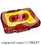 Cartoon Of Cassette Tape Royalty Free Vector Illustration by lineartestpilot
