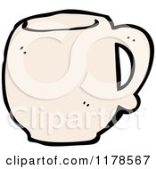 Cartoon Of A Coffee Mug Royalty Free Vector Illustration by lineartestpilot