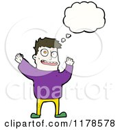 Cartoon Of A Man With A Conversation Bubble Royalty Free Vector Illustration