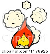 Cartoon Of Flames Royalty Free Vector Illustration