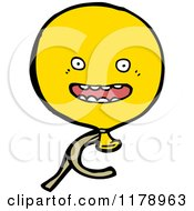 Cartoon Of A Yellow Balloon Royalty Free Vector Illustration by lineartestpilot