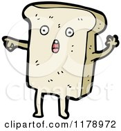 Cartoon Of A Slice Of Bread Royalty Free Vector Illustration by lineartestpilot