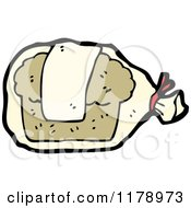 Cartoon Of A Bagged Loaf Of Bread Royalty Free Vector Illustration by lineartestpilot