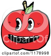 Cartoon Of A Tomato Royalty Free Vector Illustration by lineartestpilot