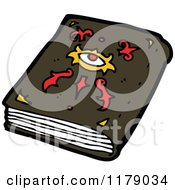 Cartoon Of A Book Of Witchcraft Royalty Free Vector Illustration by lineartestpilot