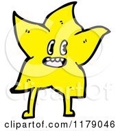 Cartoon Of A Gold Star Royalty Free Vector Illustration by lineartestpilot
