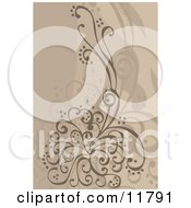 Floral Design Element Clipart Illustration