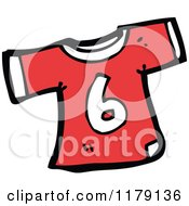 Cartoon Of A T Shirt With The Number 6 Royalty Free Vector Illustration
