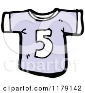 Cartoon Of A T Shirt With The Number 5 Royalty Free Vector Illustration