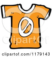 Cartoon Of A T Shirt With The Number 0 Royalty Free Vector Illustration