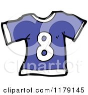 Cartoon Of A T Shirt With The Number 8 Royalty Free Vector Illustration