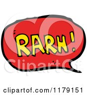 Cartoon Of A Conversation Bubble With The Word RARN Royalty Free Vector Illustration