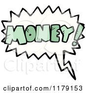 Cartoon Of A Conversation Bubble With The Word MONEY Royalty Free Vector Illustration